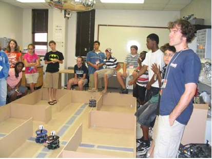 Students at Robotics Laboratory