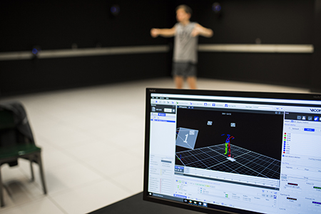 Research using motion-capture technology is shown.