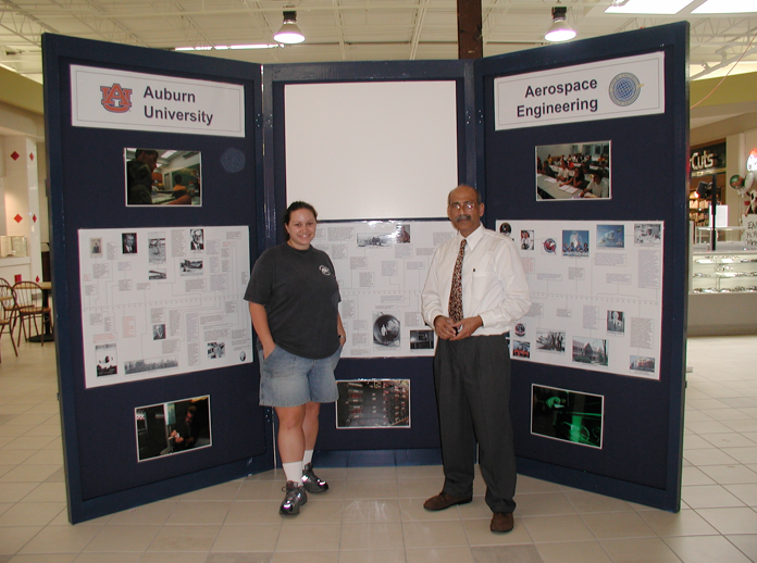 Poster display with student and Ahmed