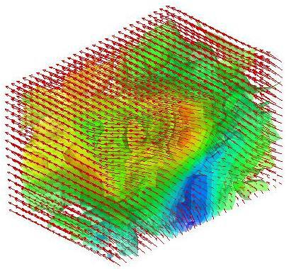 3D velocity field of a turbulent boundary layer