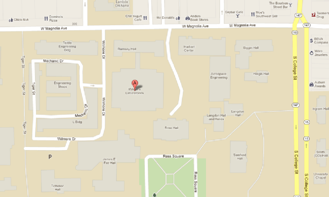 Map to Wilmore Labs