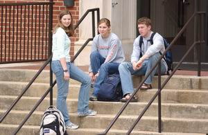 Students on Wilmore Steps