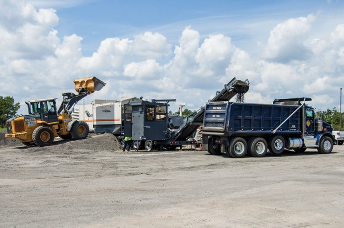 Cold central plant recycling is one of the innovative pavement preservation methods used on U.S. Route 280.