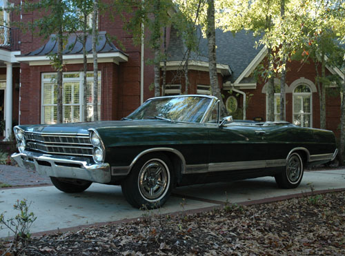 Shown below is my 1967 Ford Galaxie 500 XL convertible. Writing