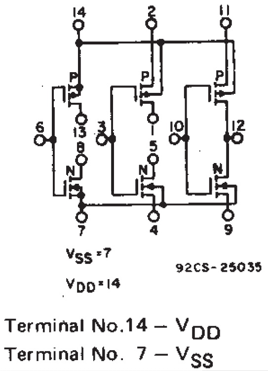 cd4007 functional diagram