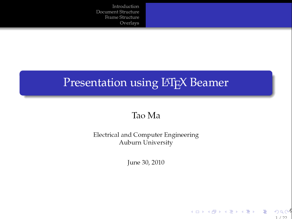 thesis beamer presentation These templates make it easy to create such a presentation, and the resulting set  of slides is available for distribution in pdf format – perfect for sharing before.