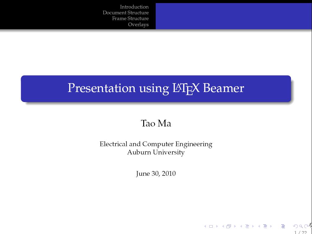 ELEC 5970/6970 - LaTeX